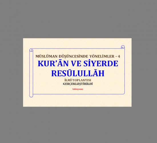 Müslüman Düşüncesinde Yönelimler -4